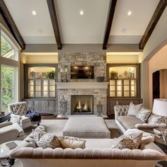 White Stone Fireplace Grey Walls  Google Search  Basement Ideas Entrancing Living Room Designs With Fireplace Inspiration