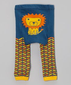 Take a look at this Blue Lion Leggings by Doodle Pants on #zulily today!