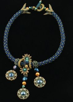 """Starry Night"" Necklace Kit Laura McCabe"