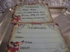 Party  Invitations  Personalized by ShoppeLaFluer on Etsy, $10.00