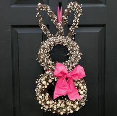 Spring Wreath Easter Wreath Bunny Wreath