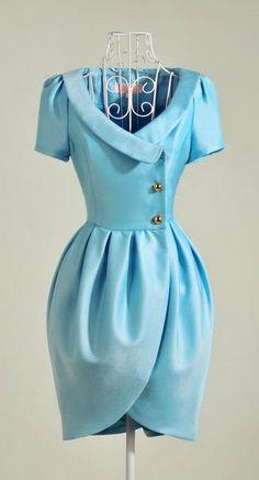 Love this little blue dress.