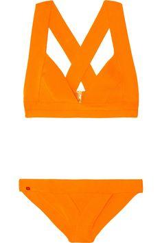 Hervé Léger Bandage Triangle Bikini