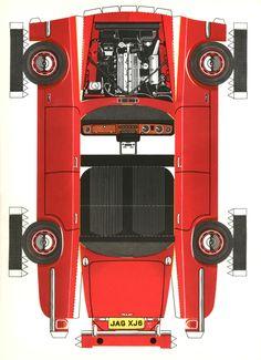 Jag-lovers brochures - a cutout model XJ6!