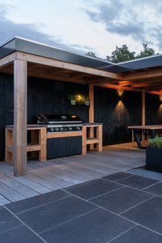 Barbecue Design, Build Outdoor Kitchen, Pergola Carport, Garden Office, Bbq, Shed, New Homes, Home And Garden, Backyard