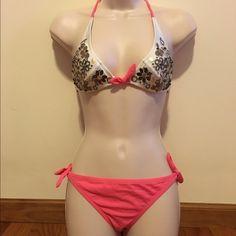 Victoria's Secret Bikini Gorgeous beaded embellished bikini top and side tie bikini bottom. Top & Bottom size small. Great condition Victoria's Secret Swim Bikinis