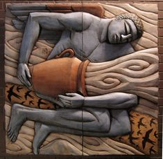 This series of four relief sculptures is installed in the Science Building at the University of Washington, Tacoma. Pottery Sculpture, Sculpture Clay, Wall Sculptures, Woodworking Inspiration, Mural Art, Art Deco Design, Clay Art, Wood Carving, Ceramic Art