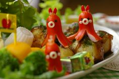 Sausage cut into fun octopus shapes. Something for a kid's (or grown-up kid) lunchbox, like Lily!