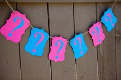 Hey, I found this really awesome Etsy listing at http://www.etsy.com/listing/151321662/question-mark-banner-for-gender-reveal