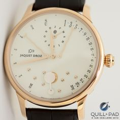 Jaquet Droz Perpetual Calendar Éclipse with ivory-colored grand feu enameled dial