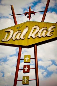 Dal Rae Restaurant Neon Sign Print Los Angeles Art Pico | Mid Century Kitchen Decor Retro Wall Art