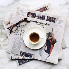 ...8/3/2014...starting my Sunday with coffee and the paper...