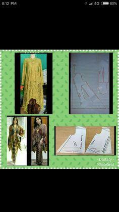 Kuning Designer Blouse Patterns, Dress Sewing Patterns, Sewing Patterns Free, Clothing Patterns, Model Kebaya Brokat Modern, Abaya Pattern, Fashion Desinger, Kebaya Dress, Pattern Sketch