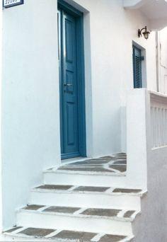 Mykonos Turquoise Door  ~Kris Neyman
