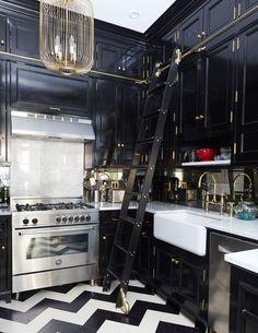 Intense elegant look in this Brooklyn Brownstone kitchen by David-Nastasi-Kate-Vail-