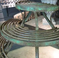 Finnegan Gallery - Large French Wrought Iron Plant Stand