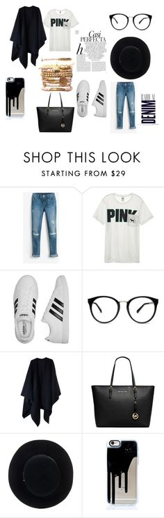 """kiki bk"" by ruth-jaimie-hollingsworth on Polyvore featuring White House Black Market, Victoria's Secret, adidas, Acne Studios, Whiteley, Michael Kors, Eugenia Kim and Alima"