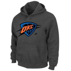 Majestic Oklahoma City Thunder Neon Color Pop Pullover Hoodie - Charcoal