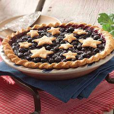 Star-Studded Blueberry Pie Recipe from Taste of Home