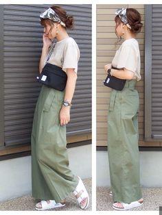 こんばんは😊🎵 BIRKENSTOCKさんのARIZONA/アリゾナのPRに参加させて頂いてます Skirts, Summer, How To Wear, Fashion, Moda, Summer Time, Fashion Styles, Skirt