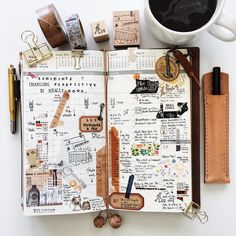 | a look back • week 10 | #liveauthentic #livefolk #nothingisordinary #coffeetime #coffee #zakka #midoritravelersnotebook #travelersnotebook #travelersnote #travelersfactory #papercraft #scrapbooking #midori #planner #journal #diary #plannerlove #plannernerd #stationerylove #stationery #typography #handwriting #washitape #stamps #vsco #vscocam
