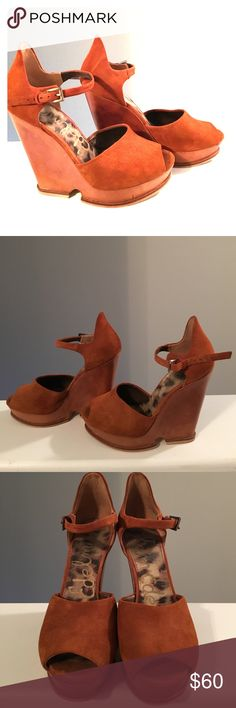 Sam Edelman platform sandal. Perfect pair of suede peep toe wedge platforms. MINOR wear. Approx 6.5 in heel with 1 in platform. Pretty perfect condition💯 Sam Edelman Shoes Sandals