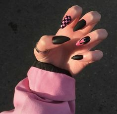 Purple Acrylic Nails, Acrylic Nails Coffin Short, Summer Acrylic Nails, Best Acrylic Nails, Purple Nails, Acrylic Nail Designs, Edgy Nails, Grunge Nails, Stylish Nails