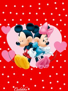 Mickey Mouse and Minnie Mouse, Happy Valentine Gif Walt Disney, Disney Mickey Mouse, Arte Do Mickey Mouse, Mickey Mouse E Amigos, Retro Disney, Mickey Mouse Images, Mickey Love, Mickey Mouse Cartoon, Mickey Mouse And Friends