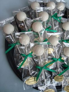 12 Vanilla White Chocolate Golf Ball Lollipops Tournaments Sporting Events Birthday Party Favors by rosebudchocolates on Etsy Golf Centerpieces, Golf Party Decorations, Centerpiece Ideas, Retirement Party Centerpieces, Lollipop Party, Party Candy, Birthday Party Favors, Birthday Gifts, Birthday Parties
