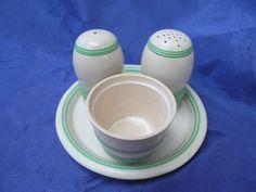 T.G.Green 'Streamline' part Cruet Set (missing the mustard pot lid)