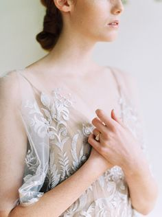 The Elle Gown, a gorgeous sheath lace wedding with flutter sleeves for the romantic bride.The lace details of gown, the organic backdrop from the soft yet strong look from and created for Scanned by Wedding Dress Shopping, Boho Wedding Dress, Wedding Gowns, Lace Wedding, Boho Bride, Fit And Flare, Strong, Romantic, Bridal