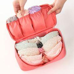 Travel Portable Nylon Multifunctional Women's Underwear/Bra Lingerie Organizer Storage Bag