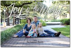 joy to the world photo christmas card