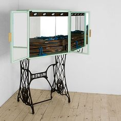 Tocador Dressing Table from Uhuru Design with antique sewing table base