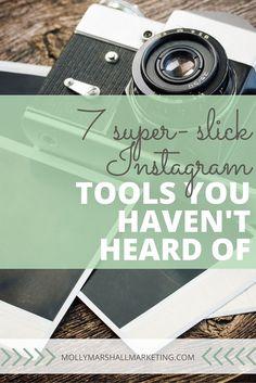 7 super slick Instagram tools you haven't heard of, that make marketing on Instagram easier