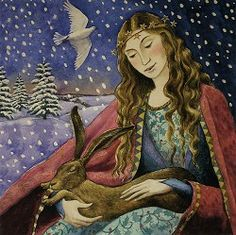 Yule/Winter Solstice : Cards by Occasion / Recipient : Home : Pagan/spiritual and fairy/fantasy greeting cards, prints and gifts at Moondragon Pagan Yule, Pagan Art, Solstice And Equinox, Winter Solstice, Fantasy Kunst, Fantasy Art, Illustrations, Illustration Art, Benny And Joon