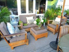 COCOCOZY: MY HOLLYWOOD HILLS COTTAGE DECK MAKEOVER - GOING NEUTRAL