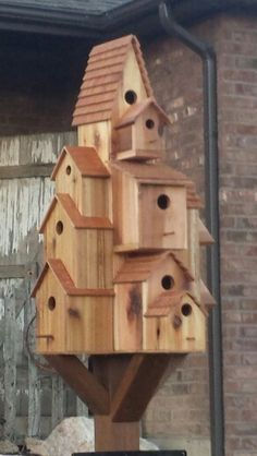 Large Bird Houses Diy Yards Ideas For 2019 Large Bird Houses, Wooden Bird Houses, Bird Houses Diy, Large Bird Feeders, Bird House Plans, Bird House Kits, Woodworking Projects Diy, Wood Projects, Woodworking Forum