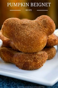Fall has officially arrived, and the best reason to head to Disneyland park this time of year is the pumpkin beignets - those delectable little fried goodies you can find at Café Orleans and at the Mint Julep Bar! If you can't make it to New Orleans Square, click through for instructions on how to make these pumpkin beignets at home!