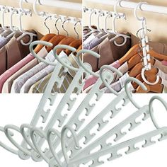 For many of us, space is at a premium. If you live in a tiny house or apartment and have a small closet to match, you can use this collapsible hanger to pack as many things in as possible. Closet Bedroom, Closet Space, Dorm Closet, Dorm Room, Small Space Living, Small Spaces, Small Closets, Tiny Closet, Closet Organization