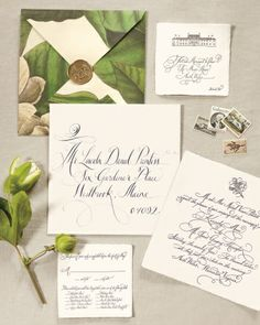 Invitation for a Charlottesville, Virginia wedding, by Rock Paper Scissors | Martha Stewart Weddings