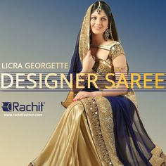 Buy something special on this women's day!  Shop Considerable Licra Georgette Designer Saree In Navi Bllue --> www.rachitfashion.com  #licra #georgette #womensday #womensfashion #outfit