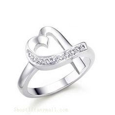 Tiffany & Co Outlet Paloma Picasso Loving Heart Diamonds Ring