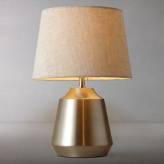 Buy Satin Nickel John Lewis & Partners Lupin Table Touch Lamp from our Desk & Table Lamps range at John Lewis & Partners. Free Delivery on orders over Tiffany Table Lamps, Touch Table Lamps, Touch Lamp, Bedside Table Lamps, Bedroom Lamps, Bedroom Lighting, Light Table, Bedroom Ideas, Master Bedroom