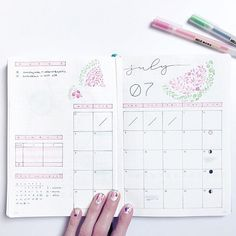 I love this layout so it hasn't changed, but yay for more watermelons! ••• #bulletjournal #bujo #bulletjournalcommunity #bulletjournaljunkies #wearebujo #leuchtturm1917 #plannergirl #stationery #stationeryaddict #planner #studyspo #studygram #bulletjournalmonthlylog