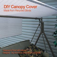 Replacing the Canopy on a Patio Swing | Outdoor swings Swings and Canopies & Replacing the Canopy on a Patio Swing | Outdoor swings Swings and ...