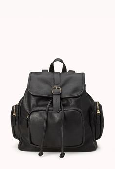Cool Girl Faux Leather Backpack | FOREVER21 #Accessories #FauxLeather #Backback