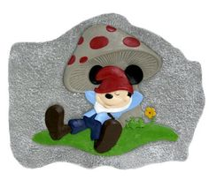 Design International Group LDG88031 Mickey Gnome Stepping Stone Chilling by Design International Group. $12.99. 100-Percent cement. Gnome styled Mickey Mouse shown relaxing on the grass can also be used as wall-art. Bright color, hand painted. Design International Group Mickey Mouse as a gnome decorates your garden in this fun stepping stone design.