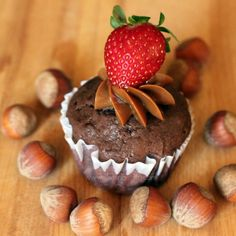 Chocolate Nutella Brownie Muffins.