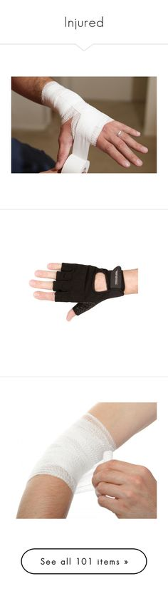 """Injured"" by alinovarose ❤ liked on Polyvore featuring injuries, wounds, accessories, gloves, black, silicon gloves, silicone gloves, travelon, palm gloves and fingerless gloves"